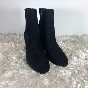 Sam Edelman Black Suede Dress Booties New Sz 9
